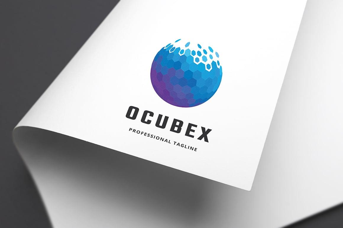 Ocubic Pixel Letter O Template de Logotipo №156026