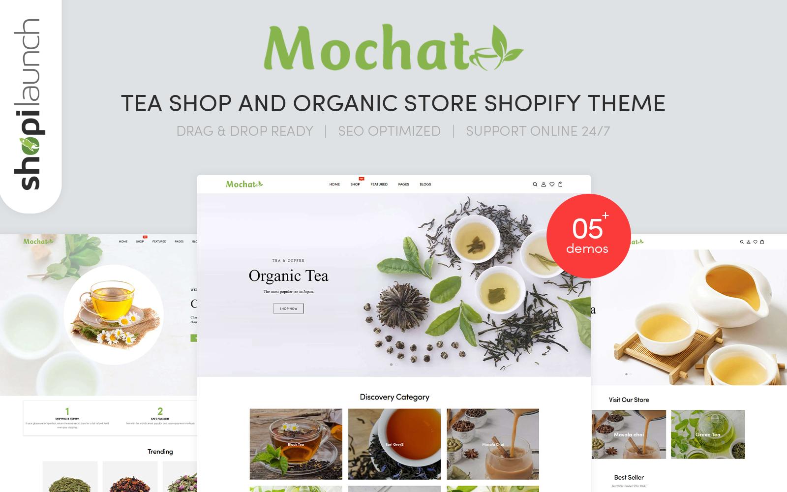 "Responzivní Shopify motiv ""Mochato - Tea Shop And Organic Store Responsive"" #156076"