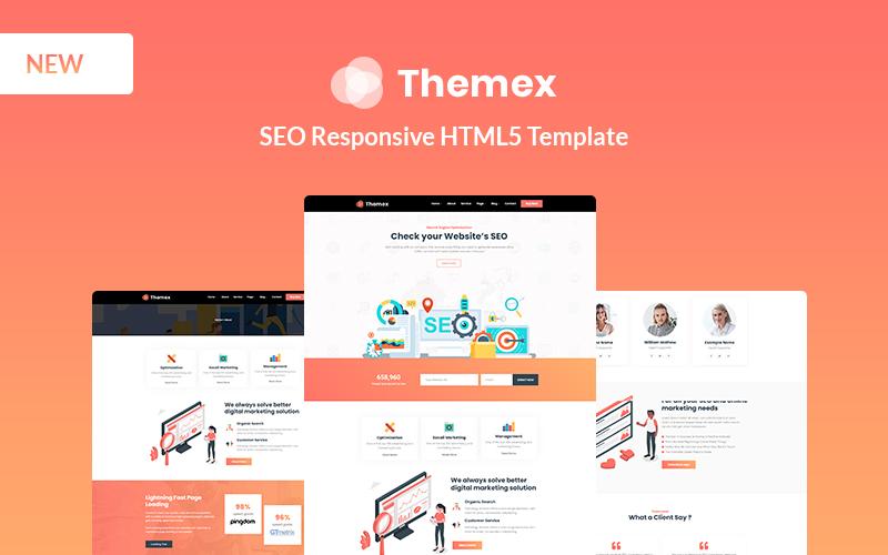 Reszponzív Themexp - SEO Responsive Weboldal sablon 156073
