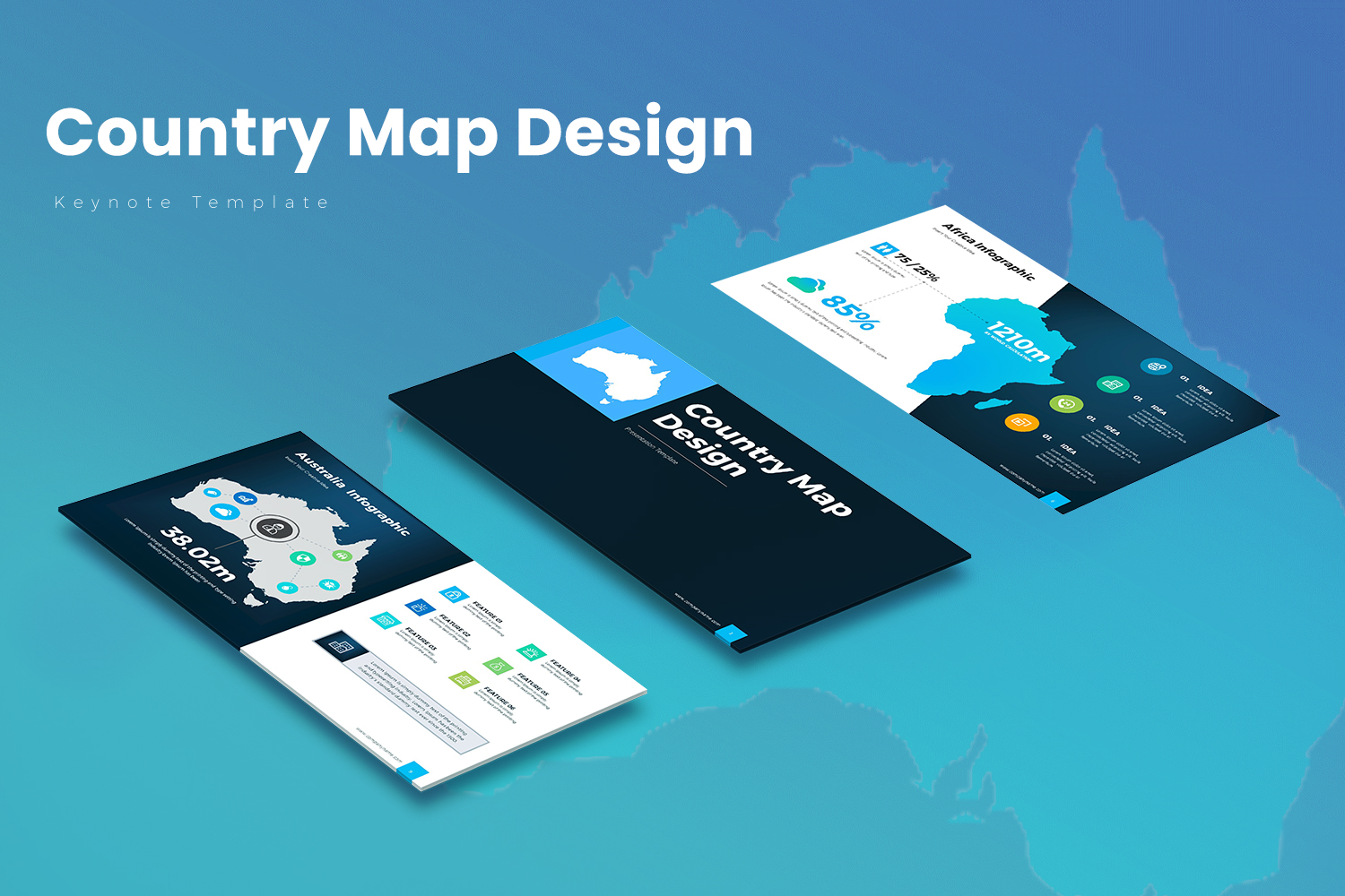 """Template Keynote #156097 """"Country Map"""""""