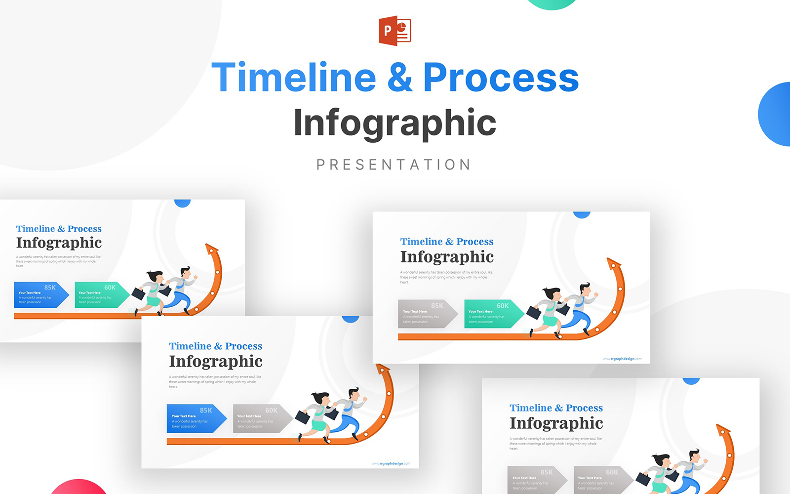 Arrow Pointing Up Business Process Infographic Presentation PowerPoint Template