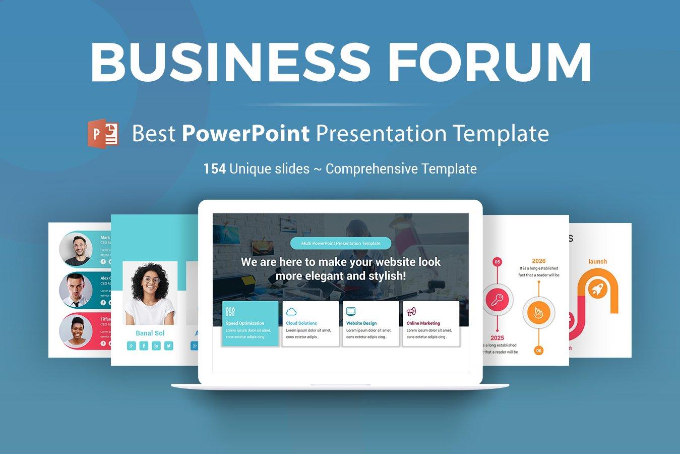 Business Forum  Presentation PowerPoint Template