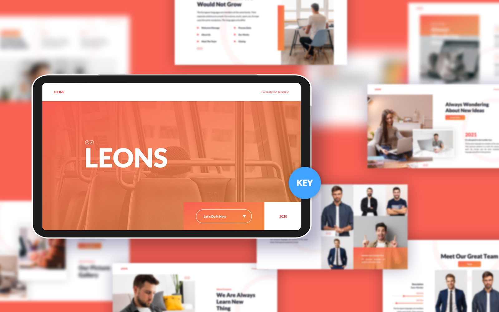 """Modello Keynote #156101 """"Leons Business"""""""