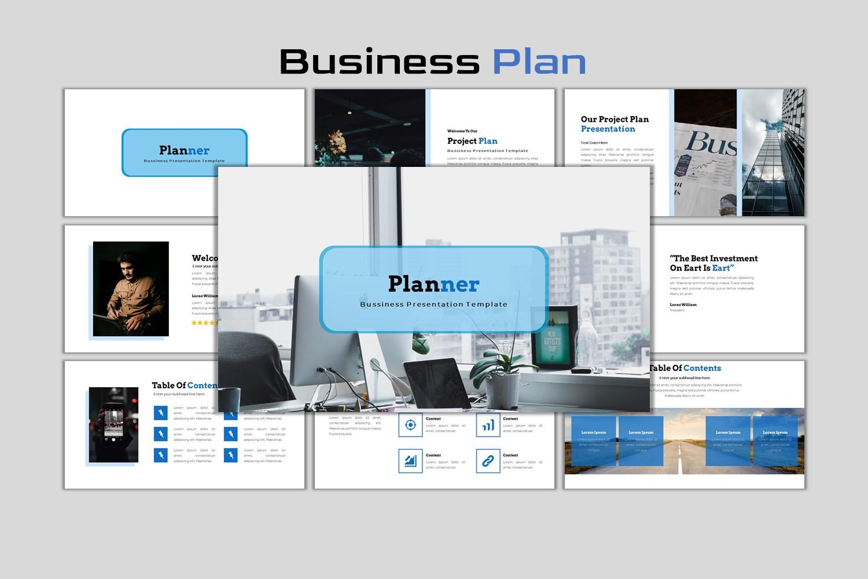 Planner - Creative Business Plan PowerPoint Template