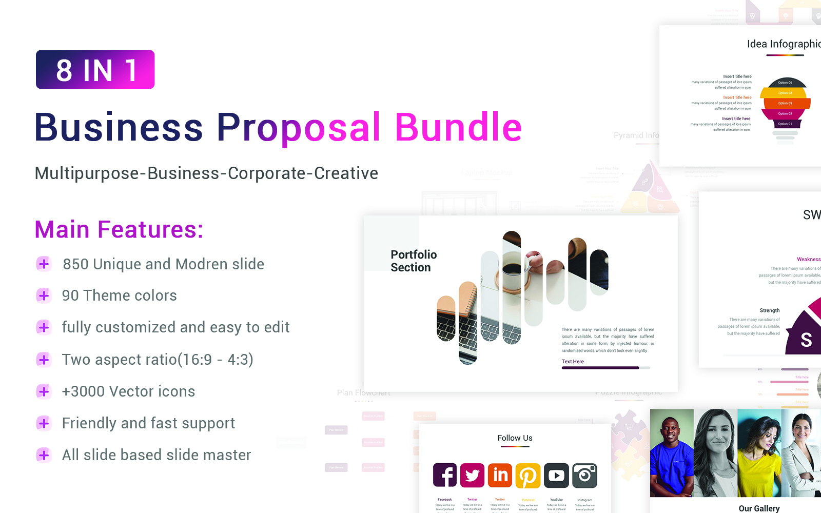 """Plantilla PowerPoint """"Business Proposal Bundle"""" #156116"""