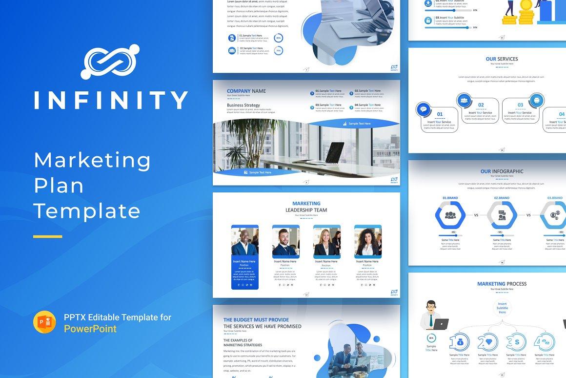 "Plantilla PowerPoint ""Infinity Marketing Plan Presentation"" #156109"
