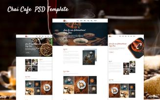 Tea Shop Landing Page PSD Template