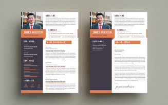 James Anderson CV Cover Letter Resume Template