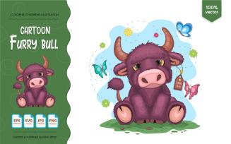 Cartoon Furry Bull