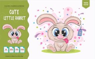 Little cartoon rabbit.