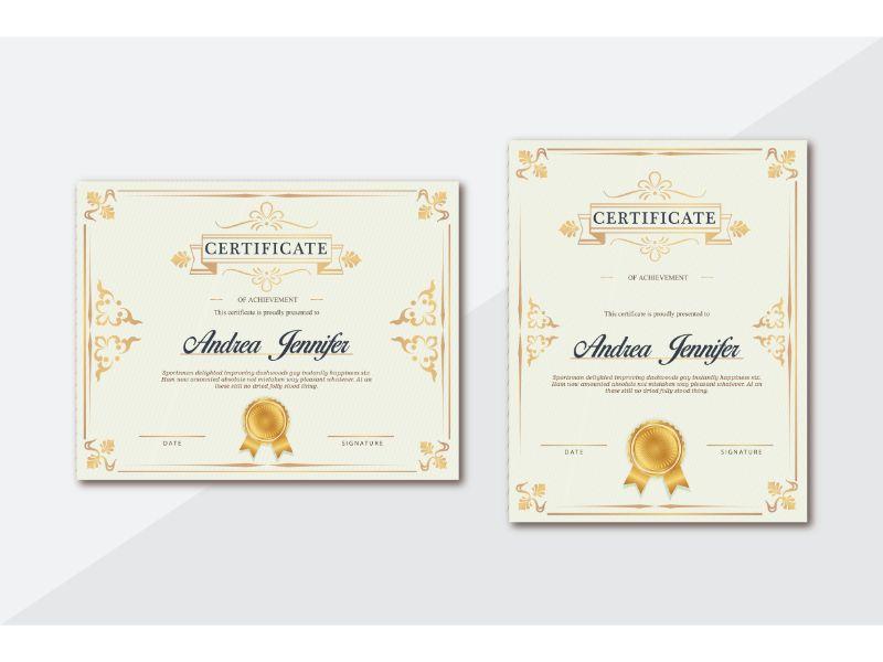 Andrea Jennifer Certificate Template 156398