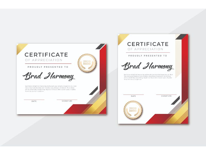 Brad Harmony Certificate Template 156394