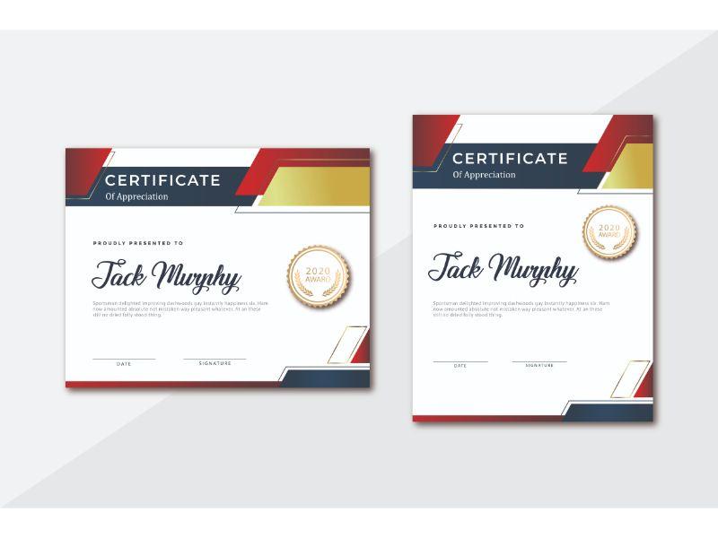 Jack Murphy Certificate Template 156399