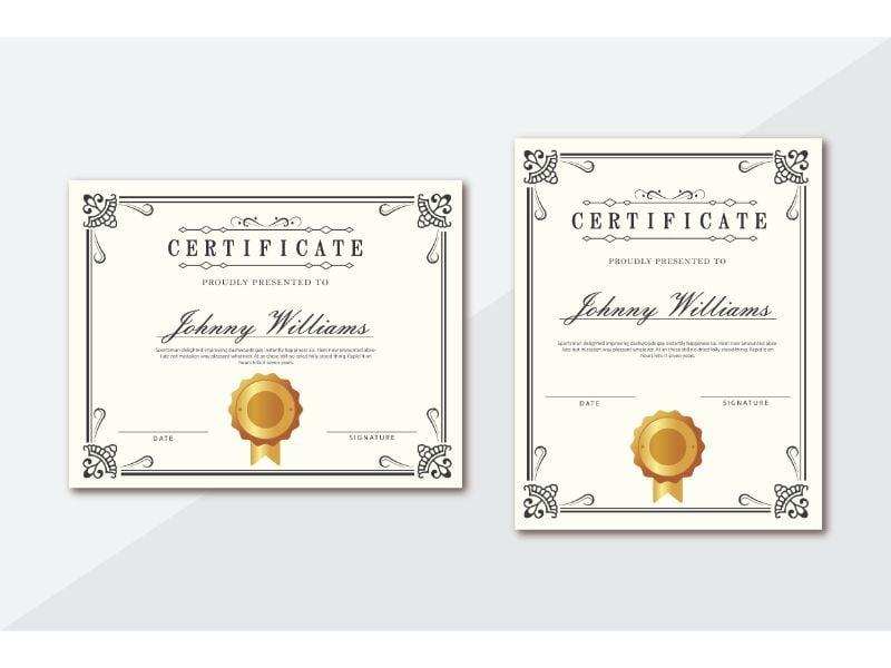 Jhonny William Certificate Template 156388
