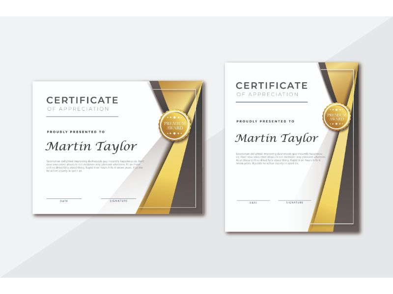 Martin Taylor Certificate Template 156397