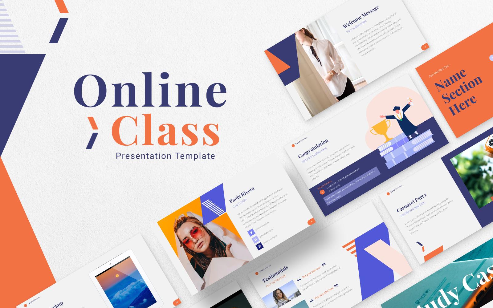 Online Class Presentation Template Google Slides #156374