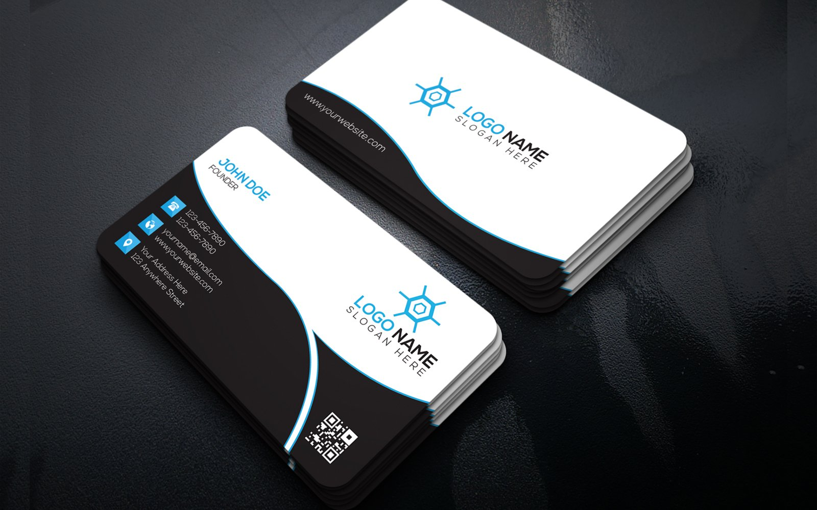 """Unternehmensidentität Vorlage namens """"Business Card Design"""" #156360"""