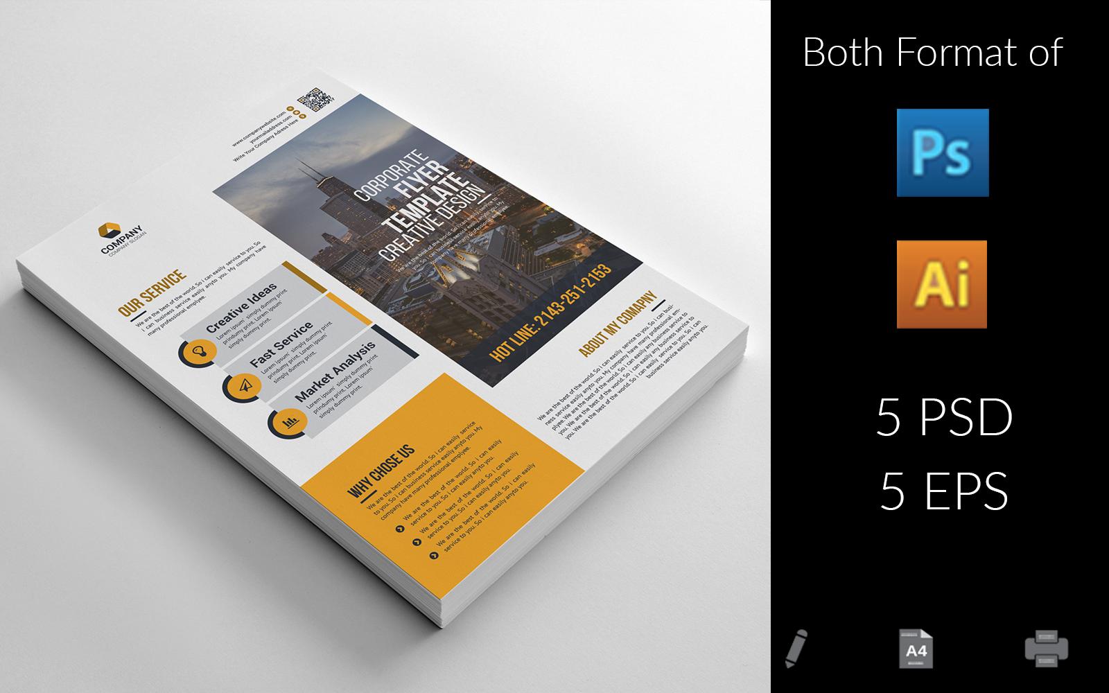 """Unternehmensidentität Vorlage namens """"Minimal Business Flyer"""" #156356"""