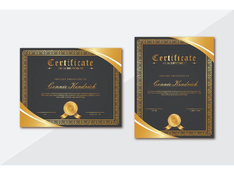 Connie Kendrick 2 Certificate Template 156402