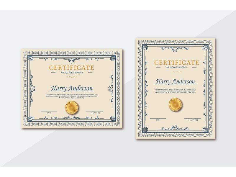 Harry Anderson Certificate Template 156400