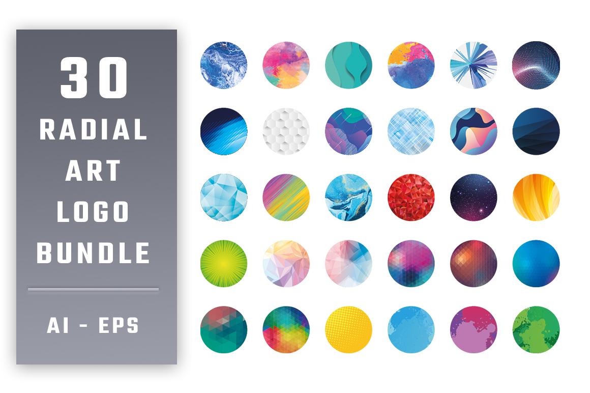 30 Radial Art Bundle Logo #156597