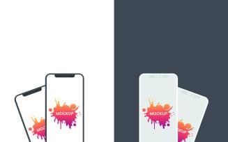 Flat iPhone PSD Product Mockup