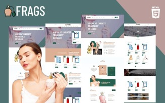 Fragz | Perfume and Cosmetics Store Website Template