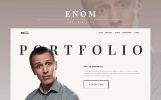 Enom - Personal Multipurpose Portfolio Landing Page Template