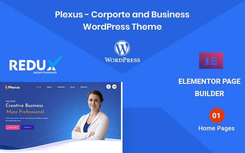 "Modello WordPress Responsive #156692 ""Plexus - Corporate Business"""