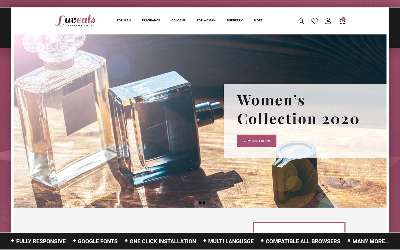 Responsywny szablon OpenCart Luveals - Perfume Store #156697