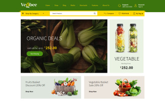Vegbee - Vegetable & Grocery WooCommerce Theme