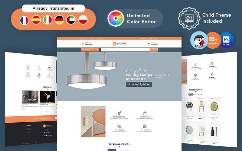 """Luxuries Decorative Goods Responsive PrestaShop Theme"" Responsive PrestaShop Thema №156702"