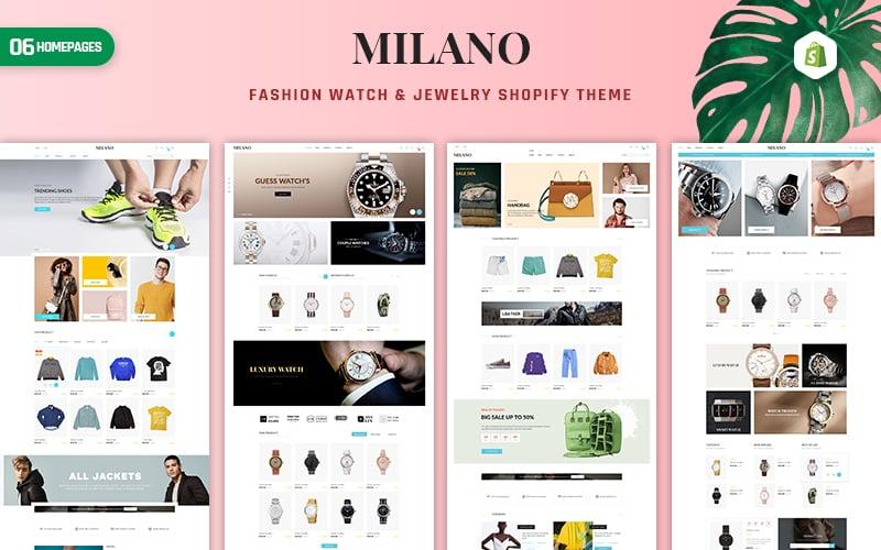 Reszponzív Milano - Fashion & Accessories Shopify sablon 156701