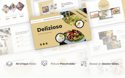 Delizioso – Food & Restaurant Presentation PowerPoint Template