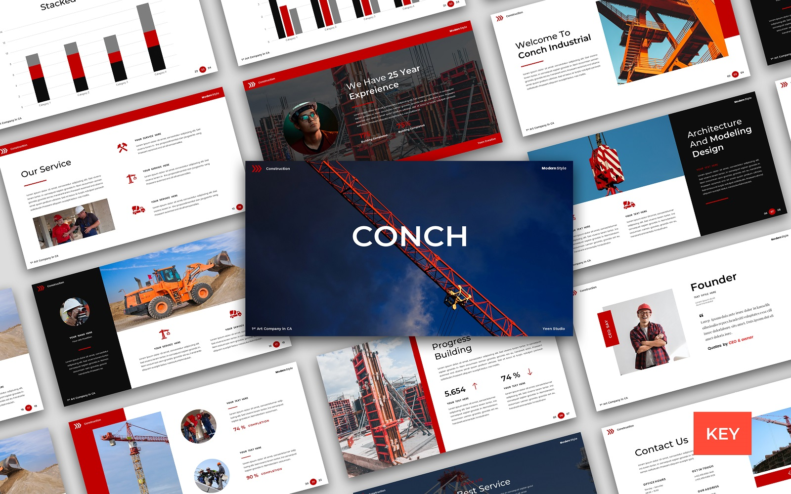 "Modello Keynote #156878 ""Conch – Construction & Building"""