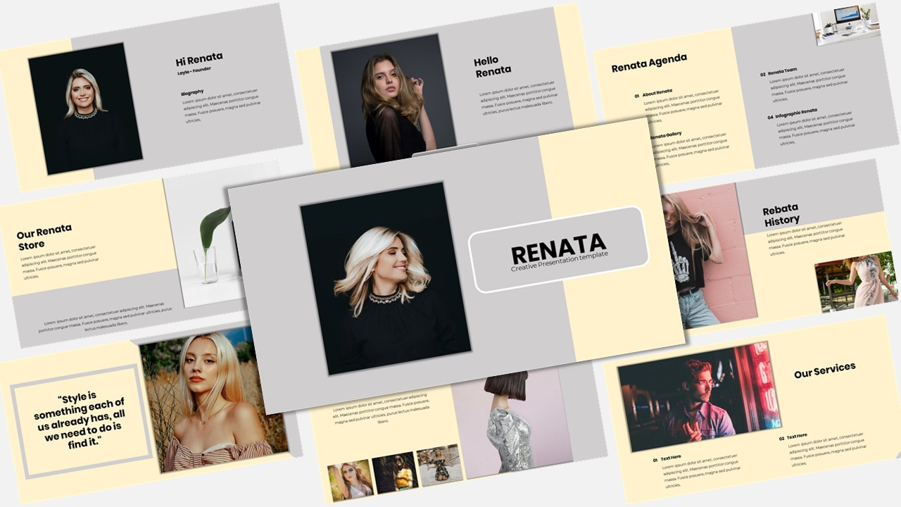 "Template Keynote #156880 ""Renata - Creative Business"""