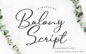 Balony Script Handwriting Font