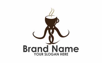 Coffee Squid Logo Template
