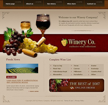 Realizare Site Online magazin de vinuri