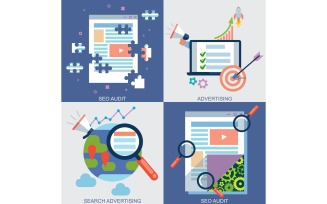 Web Icons Set for Advertising - Illustration