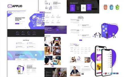 Applio Creative Responsive Mobile App Website Website Template