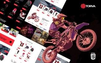 Trova Sports Motor Bike Shop and Accessories Website Template
