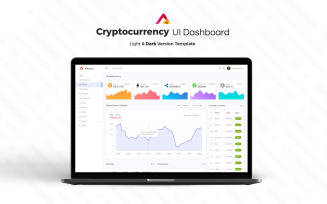 Cryptocurrency Admin Dashboard UI Elements