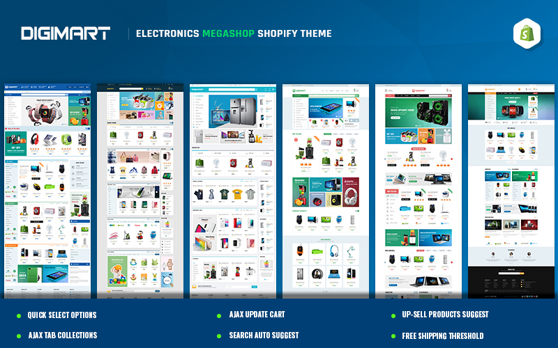 "Template Shopify Responsive #157402 ""Digimart - Electronics Mega Shop"""