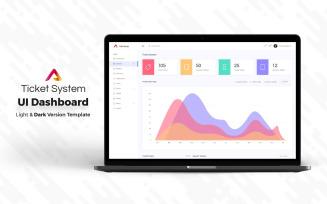 Ticket System Admin Dashboard UI Elements