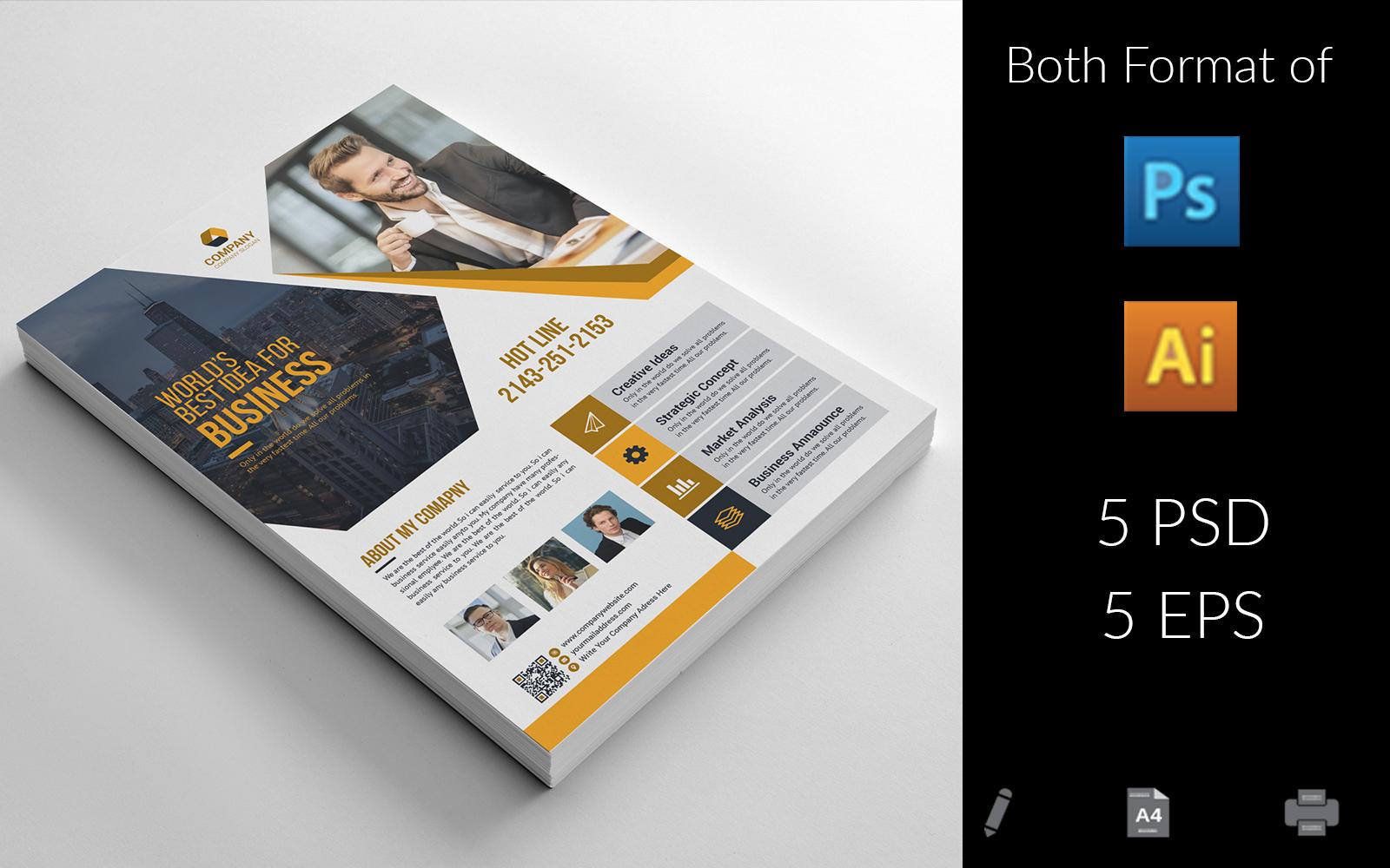 """Unternehmensidentität Vorlage namens """"Business Flyer"""" #157436"""