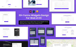 31 Forms Widgets Designs For Web UI Kit