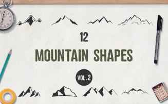 Mountain Shapes SVG Bundle Vol.2