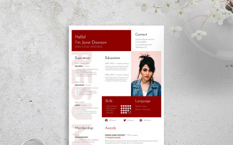 inDesign Free Download Resume Template