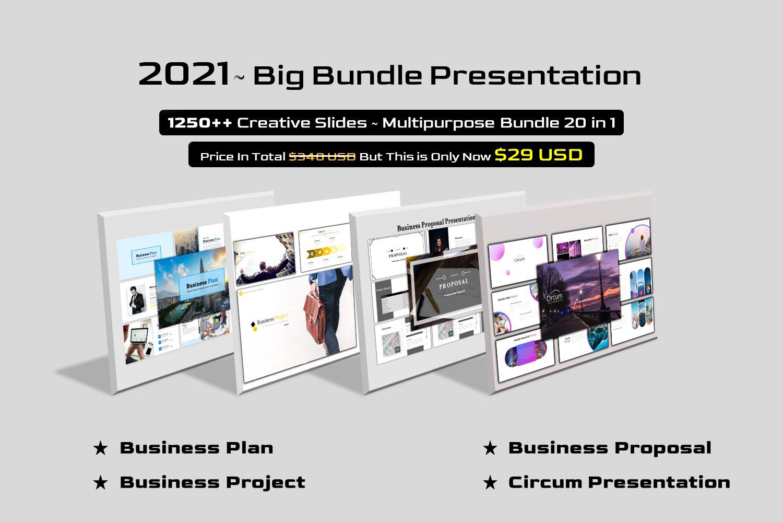 Premium Big Bundle 20 in 1 - Multipurpose Google Slides #157551